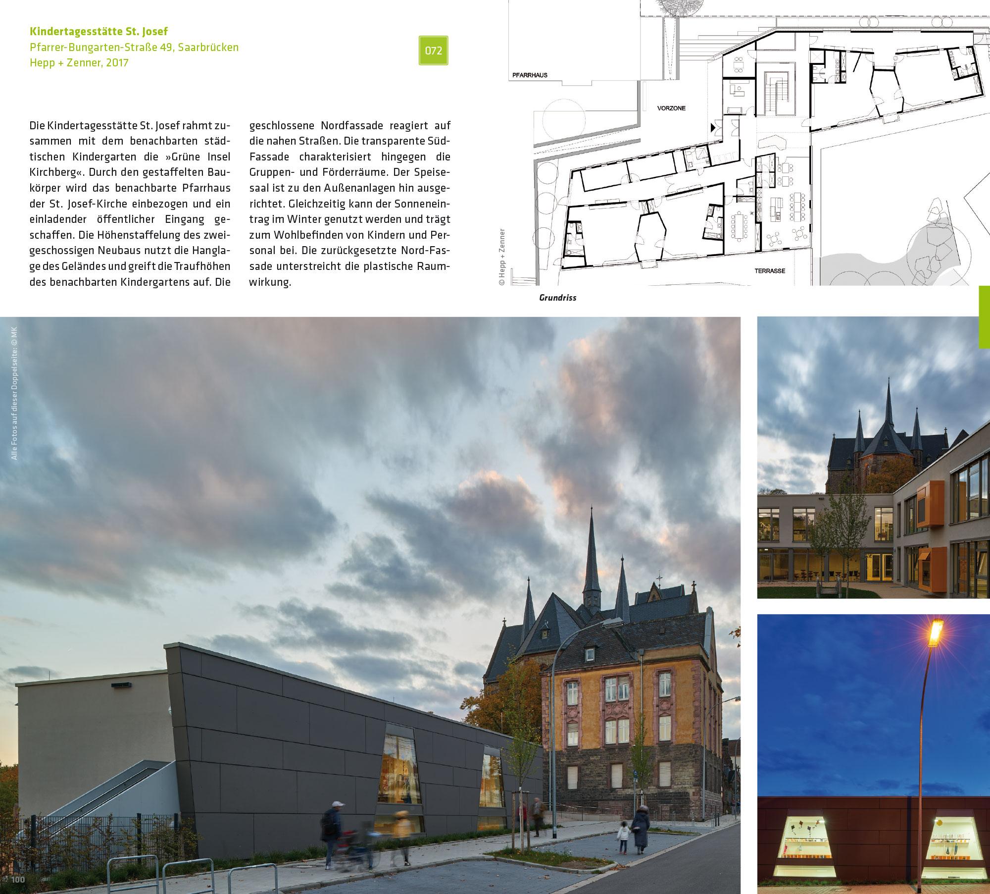 Buch-Doppelseite: Kindertagesstätte St. Josef, Saarbrücken