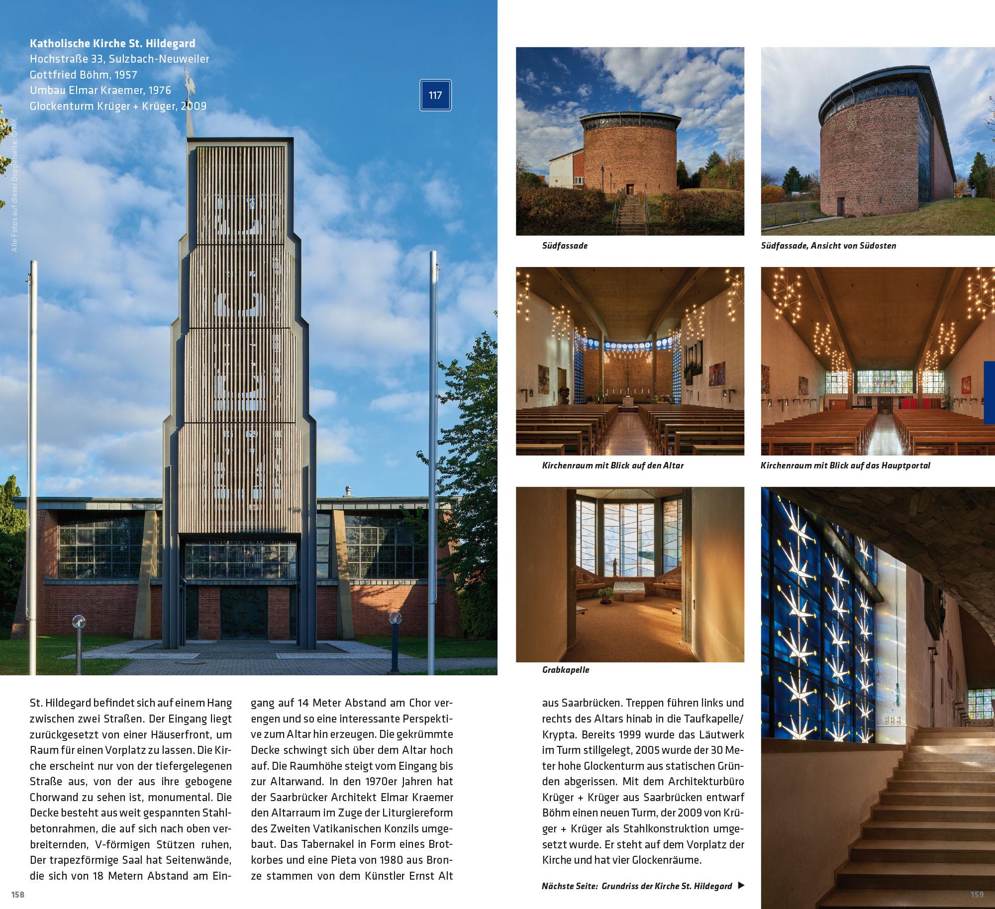 Buch-Doppelseite: Pfarrkirche St. Hildegard, Sulzbach-Neuweiler