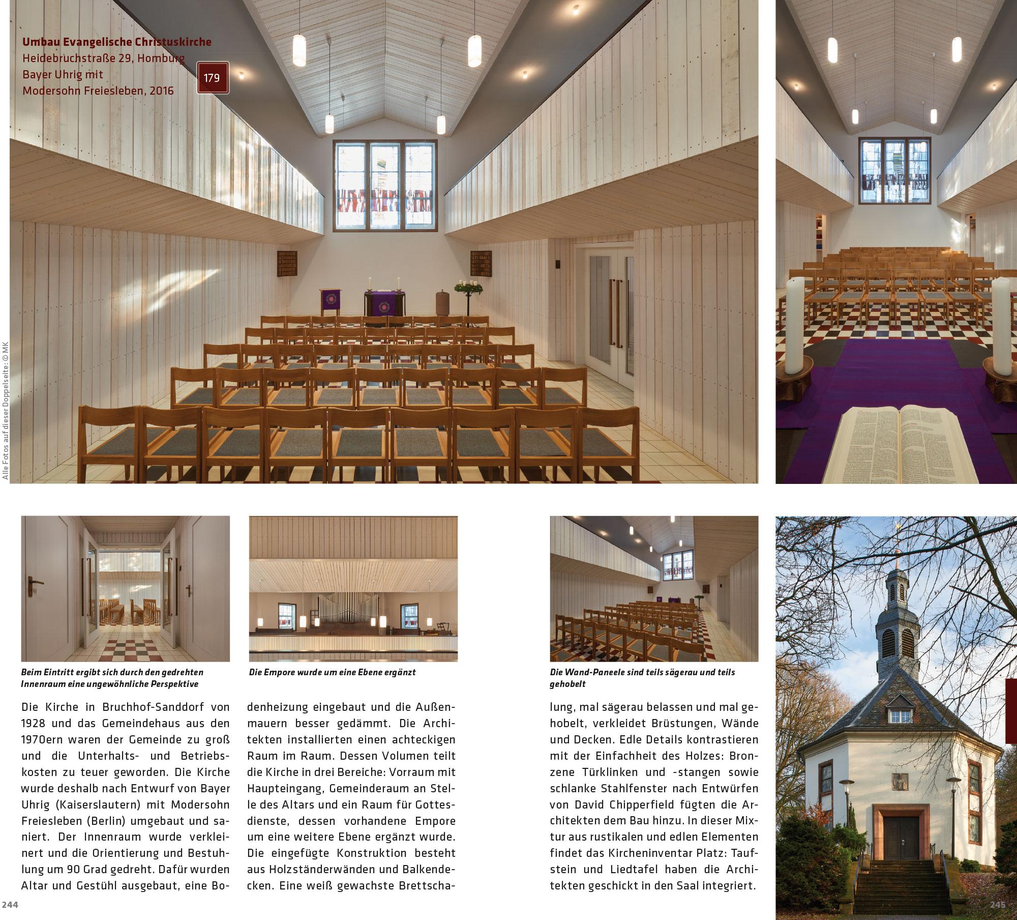 Buch-Doppelseite: Christuskirche in Homburg-Bruchhof