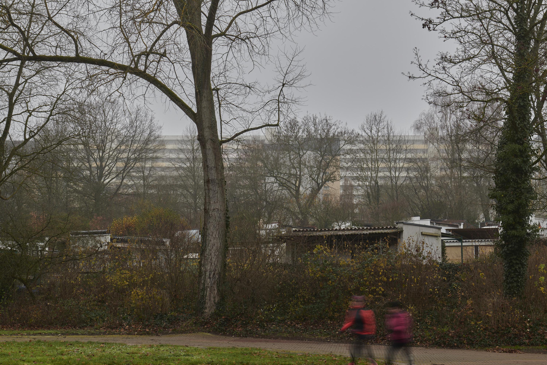Ansicht vom angrenzenden Deutsch-Französischen Garten