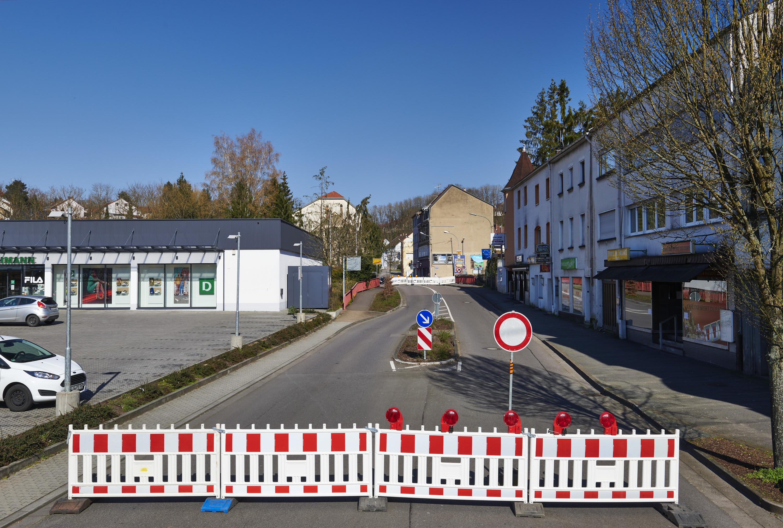 deutsch-französische Grenze, Großrosseln/Petite-Rosselle am 29.03.2020