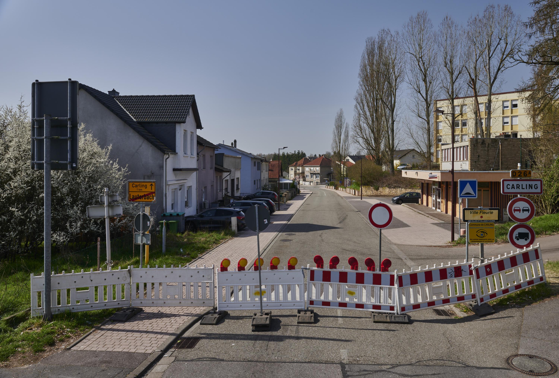 deutsch-französische Grenze, Lauterbach/Carling