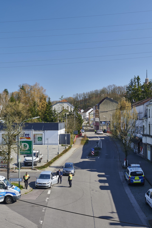deutsch-französische Grenze, Großrosseln/Petite-Rosselle am 01.04.2020