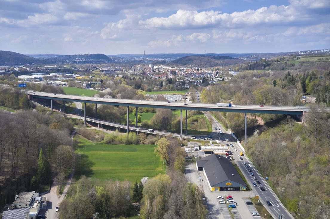 Dokumentationsfotografie von Marco Kany: Die Fechinger Talbrücke